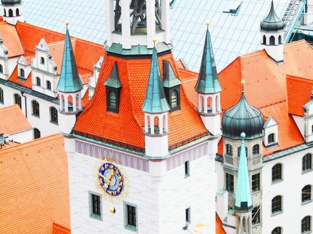 Frauenkirche Rathaus Marienplatz Munchen