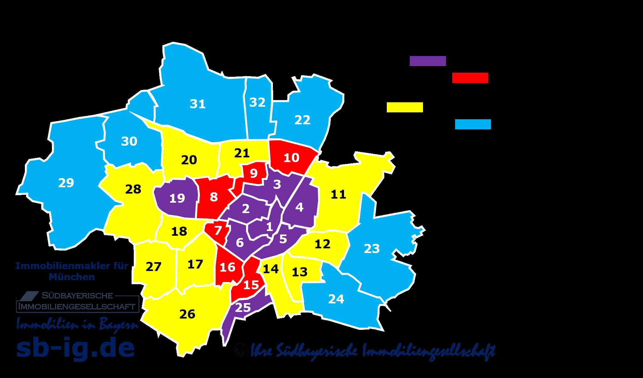 Karte München Stadtteile.Wohnqualität München Stadtteile Toplagen Wohnviertel